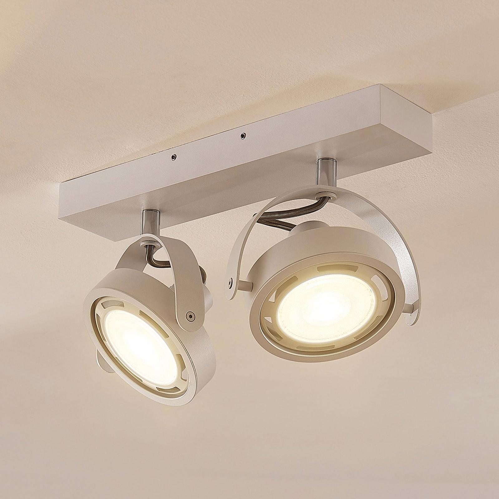 LED spot Munin, dimbaar, wit, 2-lamps