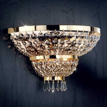 Wandleuchte SHERATON 24k vergoldet 3-flammig