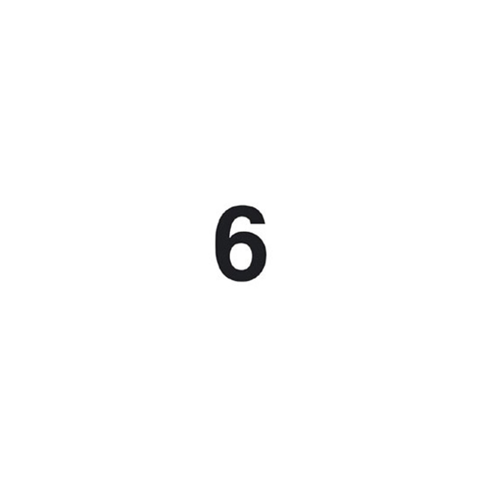 Selbstklebende Ziffer 6
