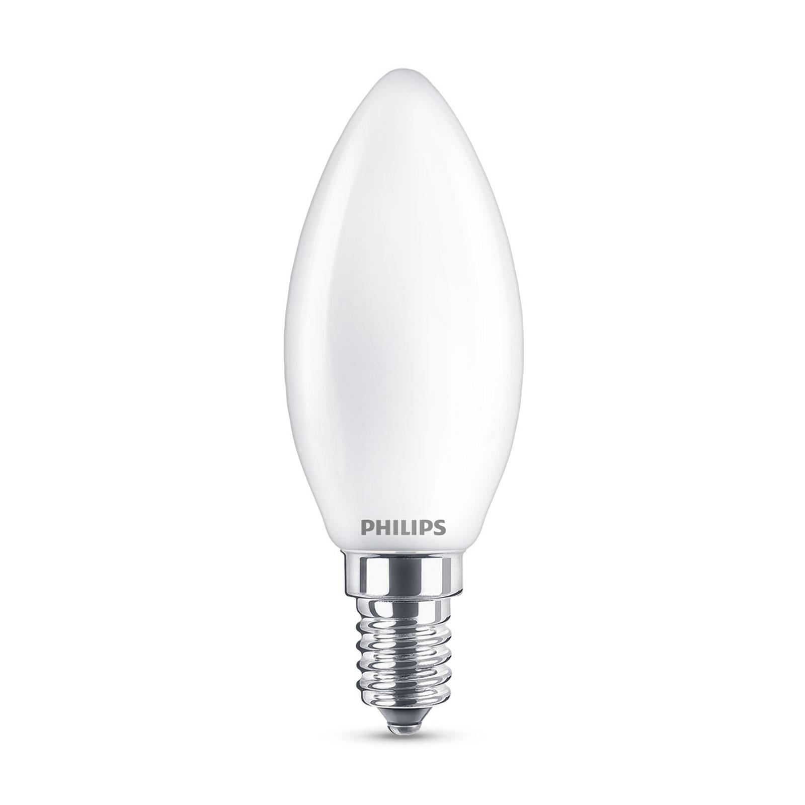 Philips Classic LED-pære E14 B35 6,5W 2.700K, mat