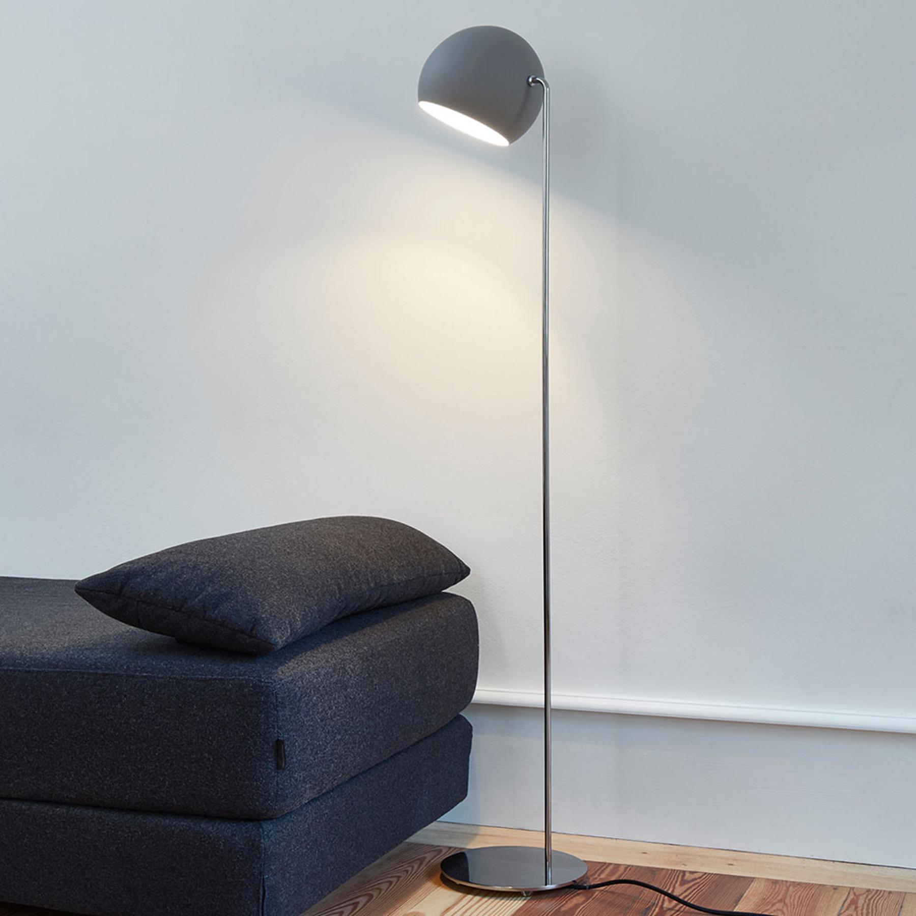 Nyta Tilt Globe Floor vloerlamp RVS grijs
