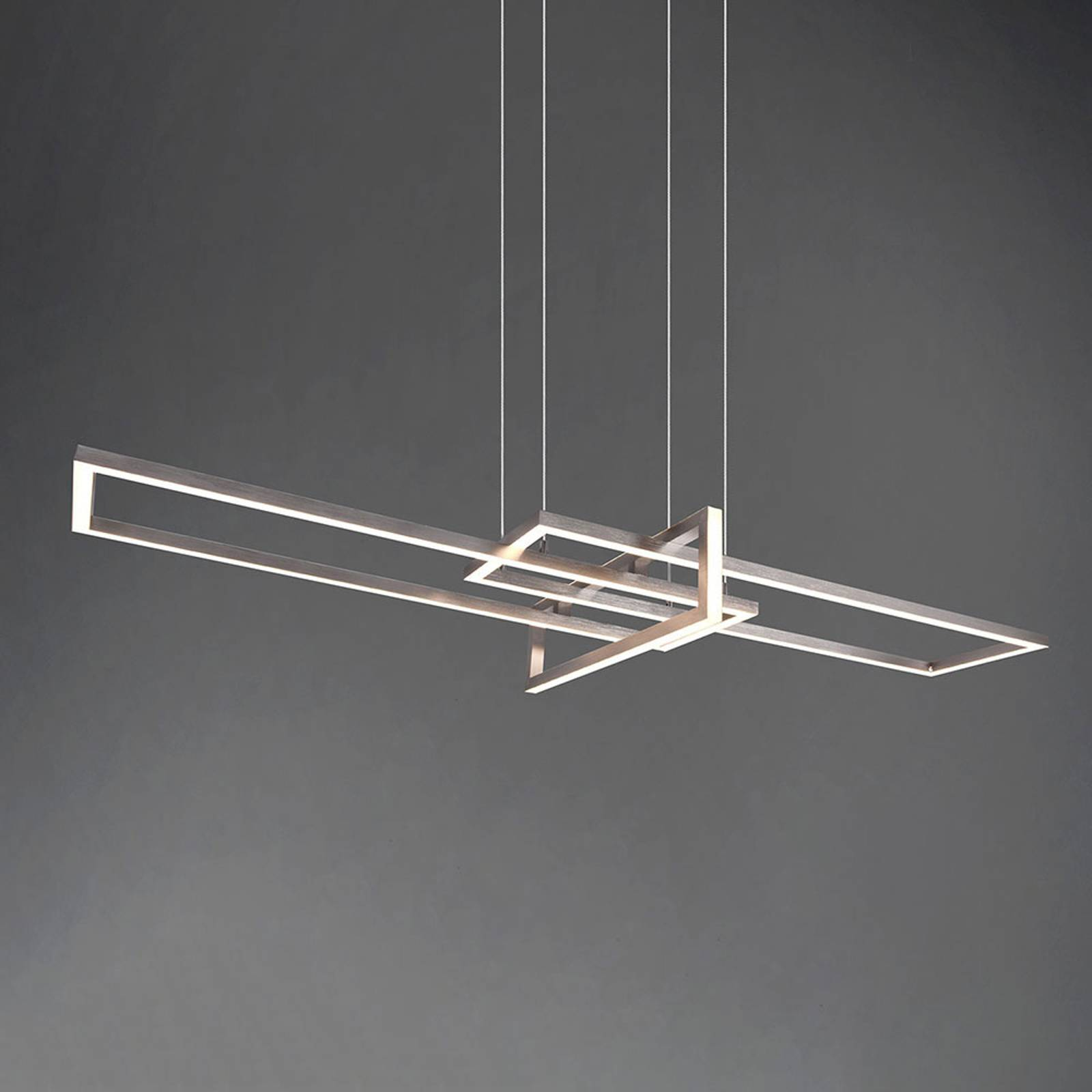 LED hanglamp Salinas, 3.000 K, nikkel mat