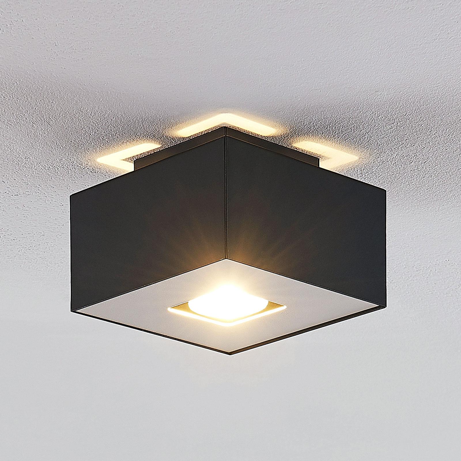 Lindby Kasi plafondlamp, 1-lamp, 14 x 14 cm