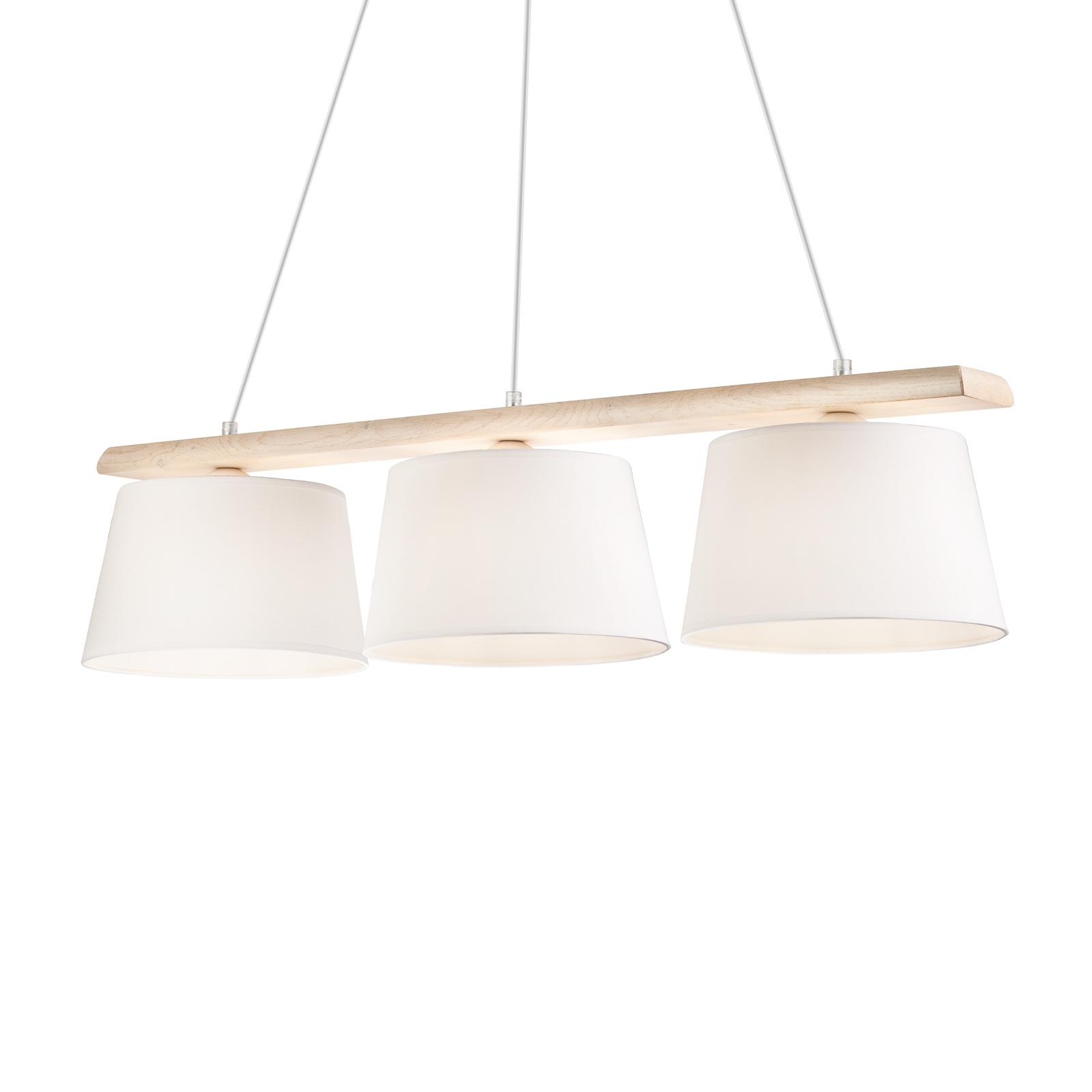 Suspension Sweden à 3 lampes, vieux blanc