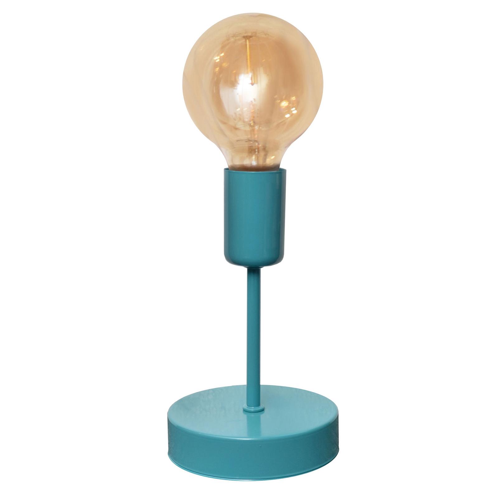 Kolorowa lampa stołowa Oxford turkusowa