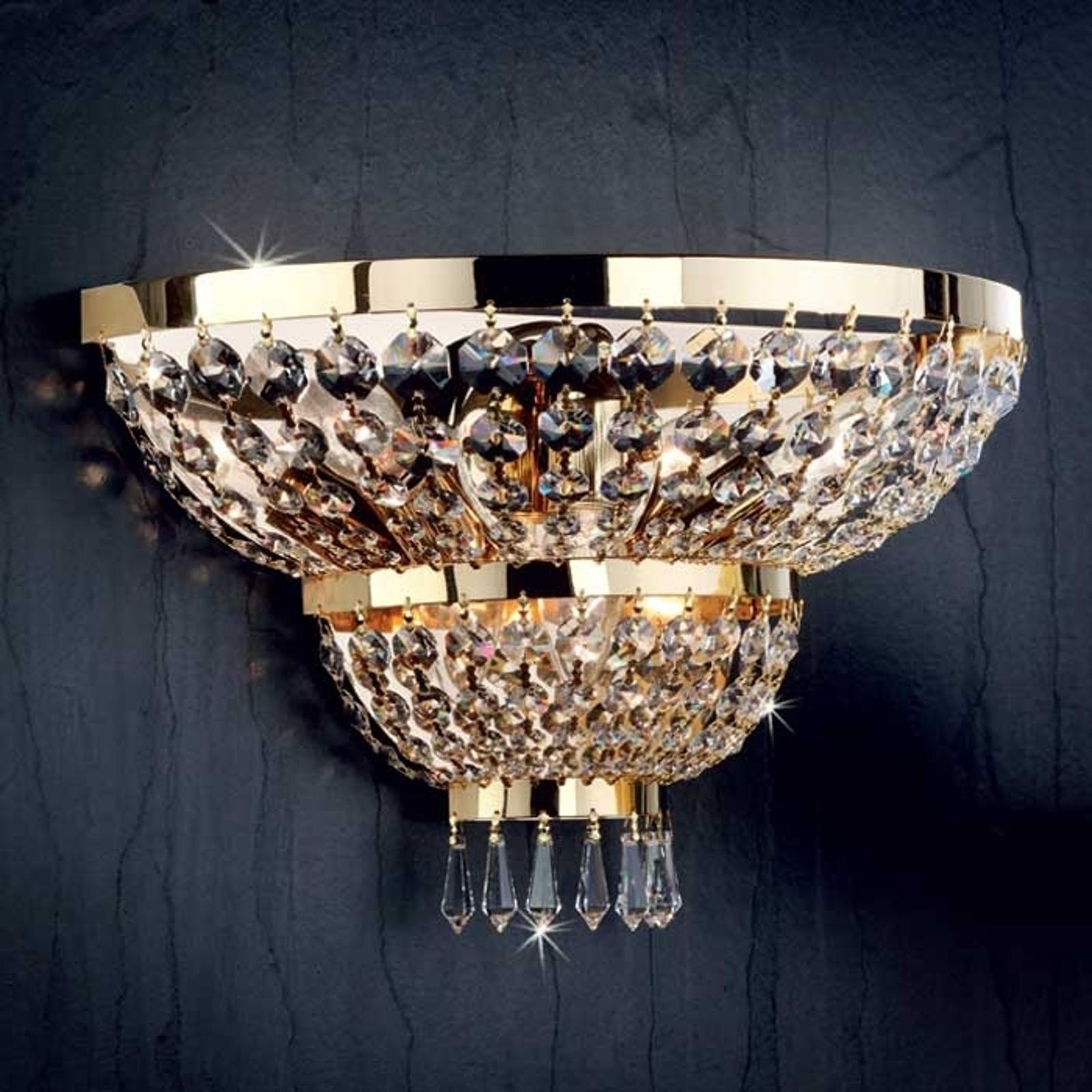 Wandlamp SHERATON 24k verguld, 3-lichts