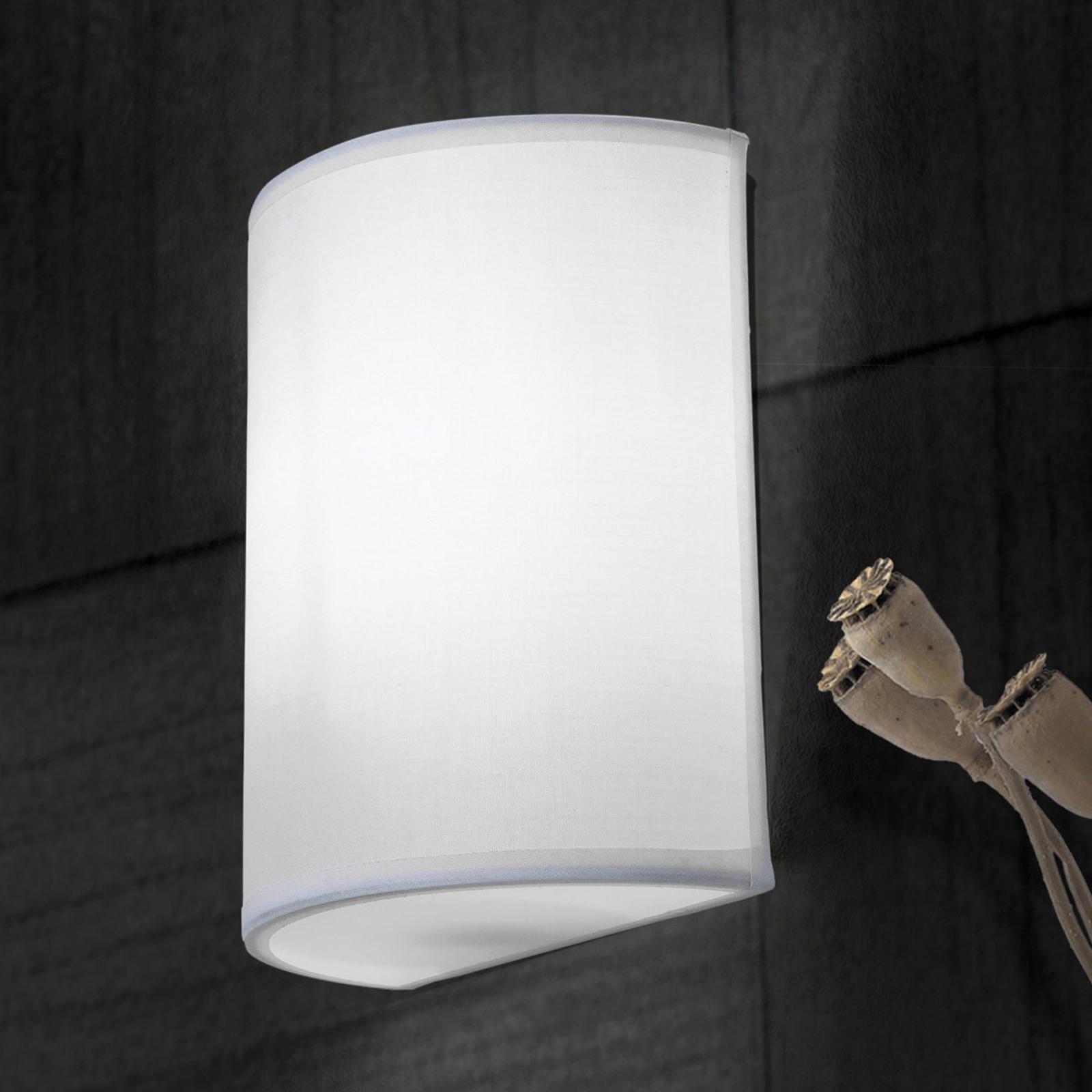 Wandlamp UFO met linnen kap in Wit