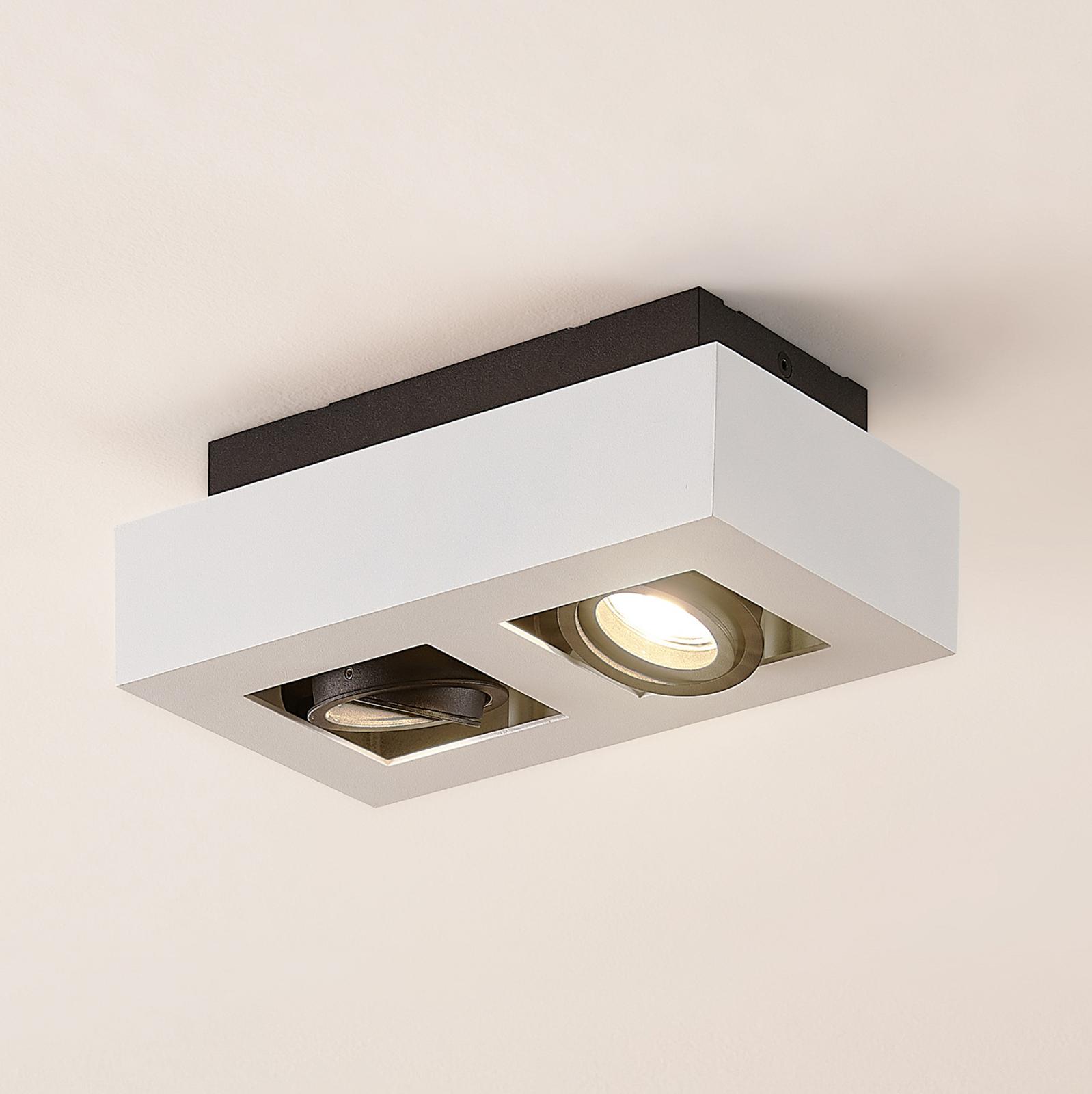 Arcchio Vince lampa sufitowa, 25 x 14 cm biała