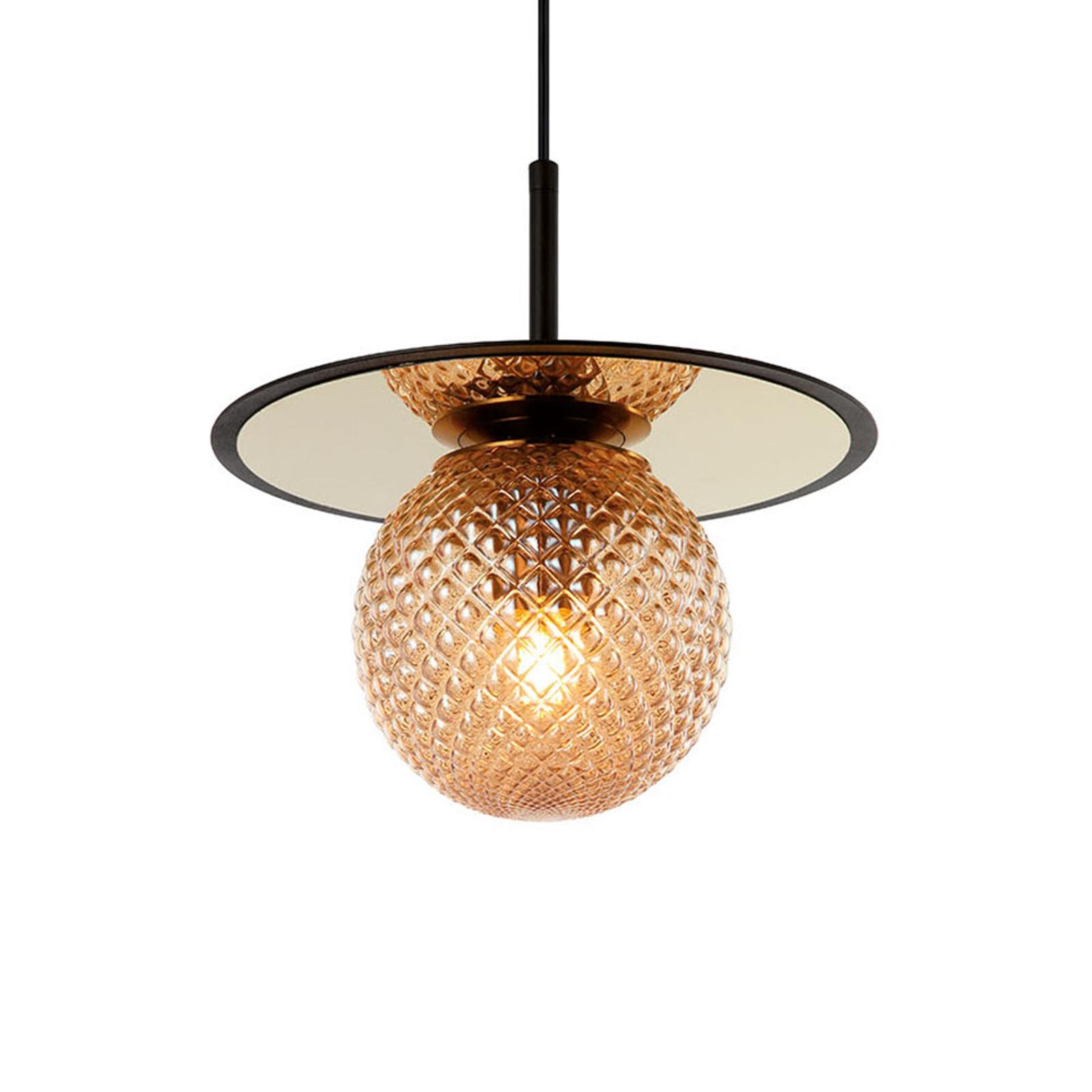 Hanglamp Cairo van glas, amber