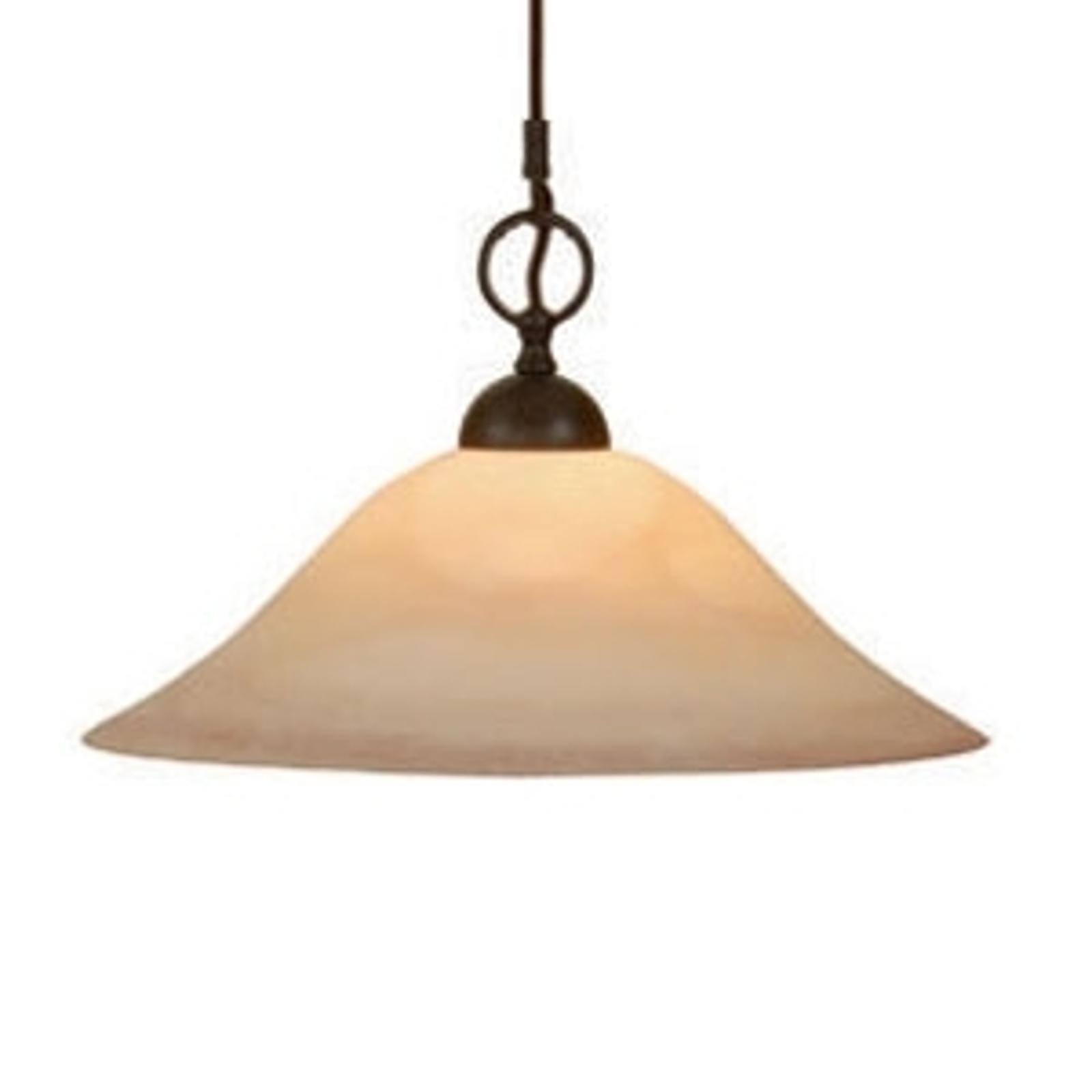 Flexibel taklampa PUSTA med rökglaskupa