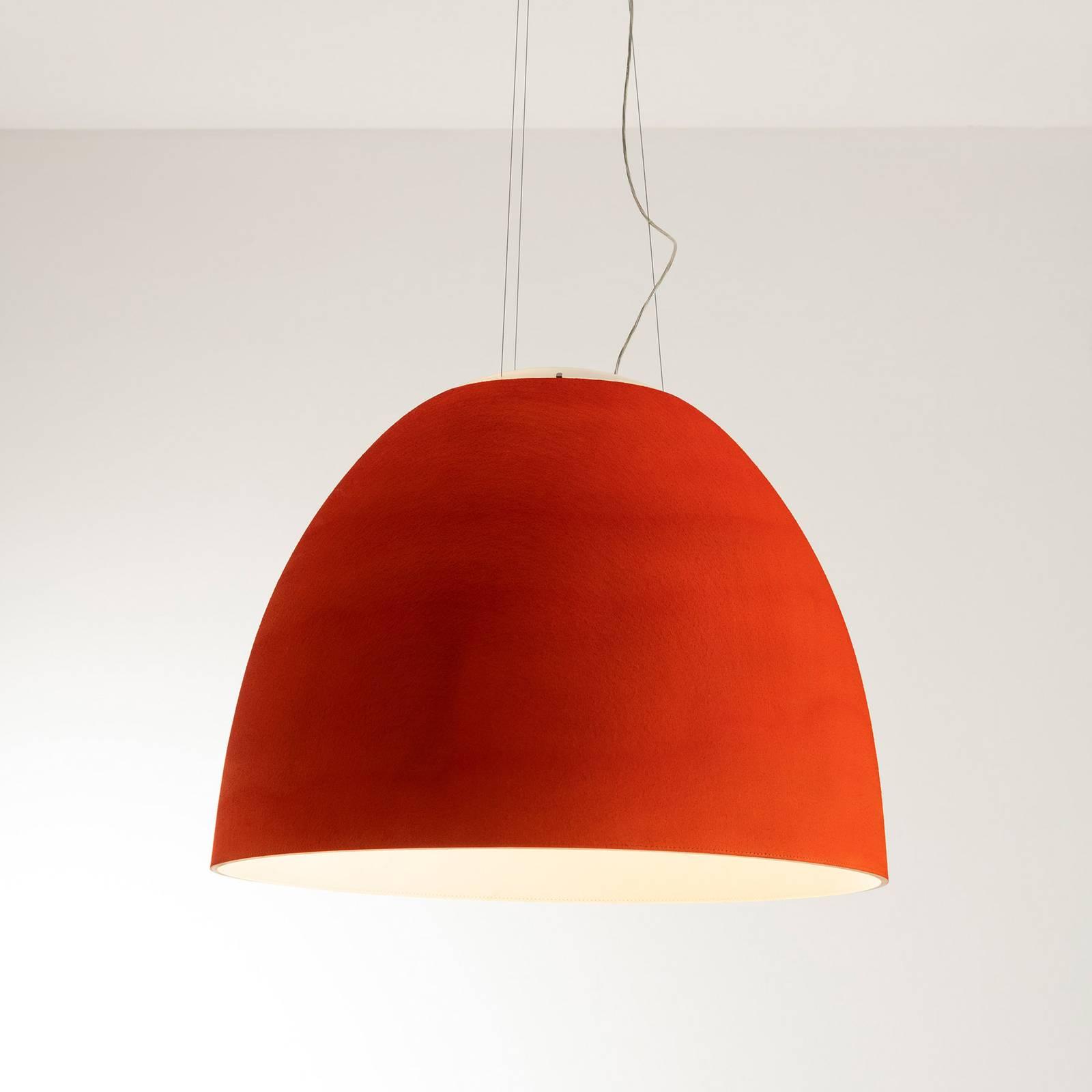 Artemide Nur Acoustic LED-Hängeleuchte, rot