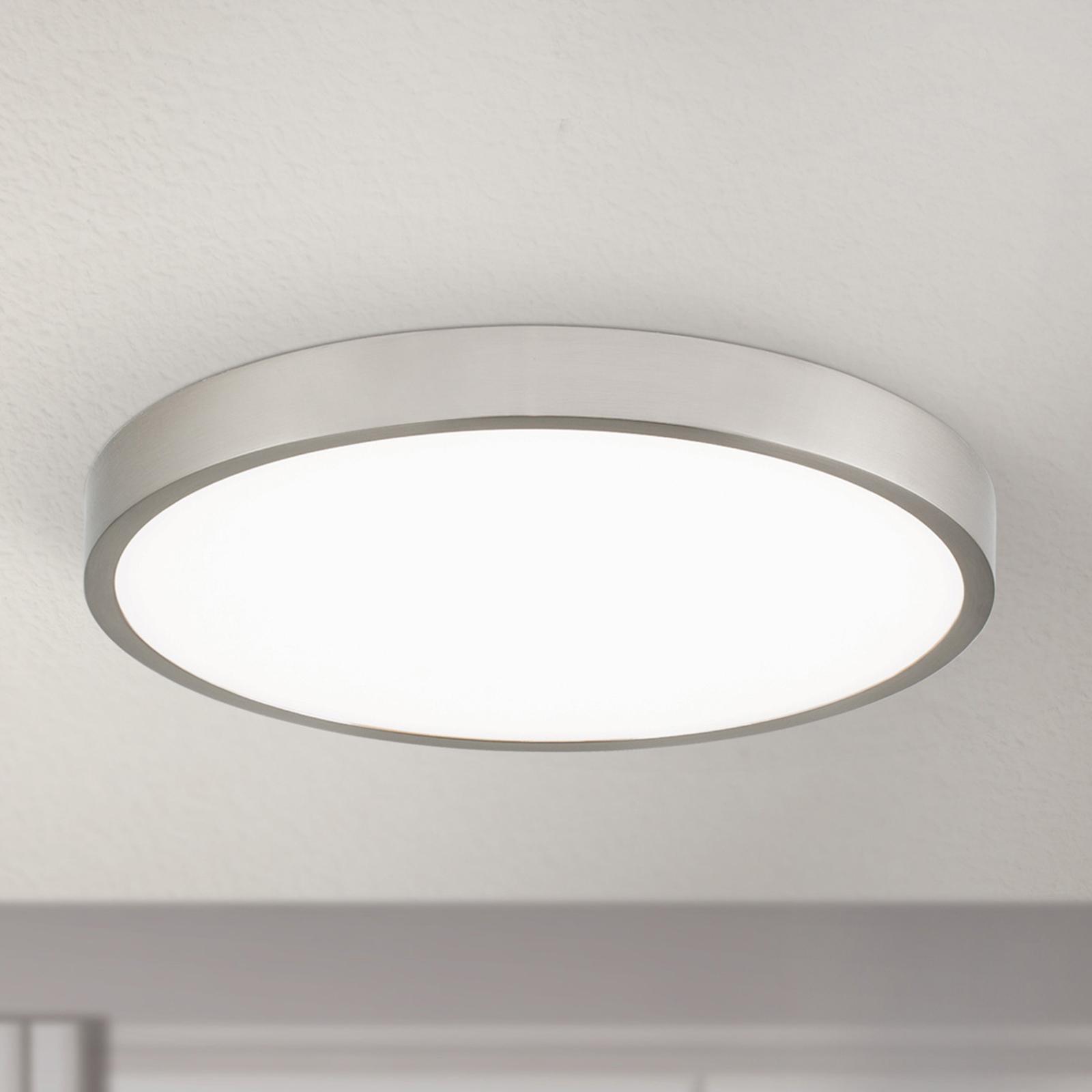 LED plafondlamp Bully, satijn 24 cm