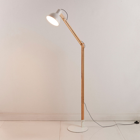 Shivanja - Stehlampe aus Holz u. Metall