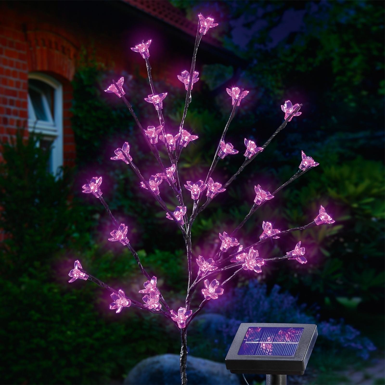 Solarny bukiet kwiatów LED