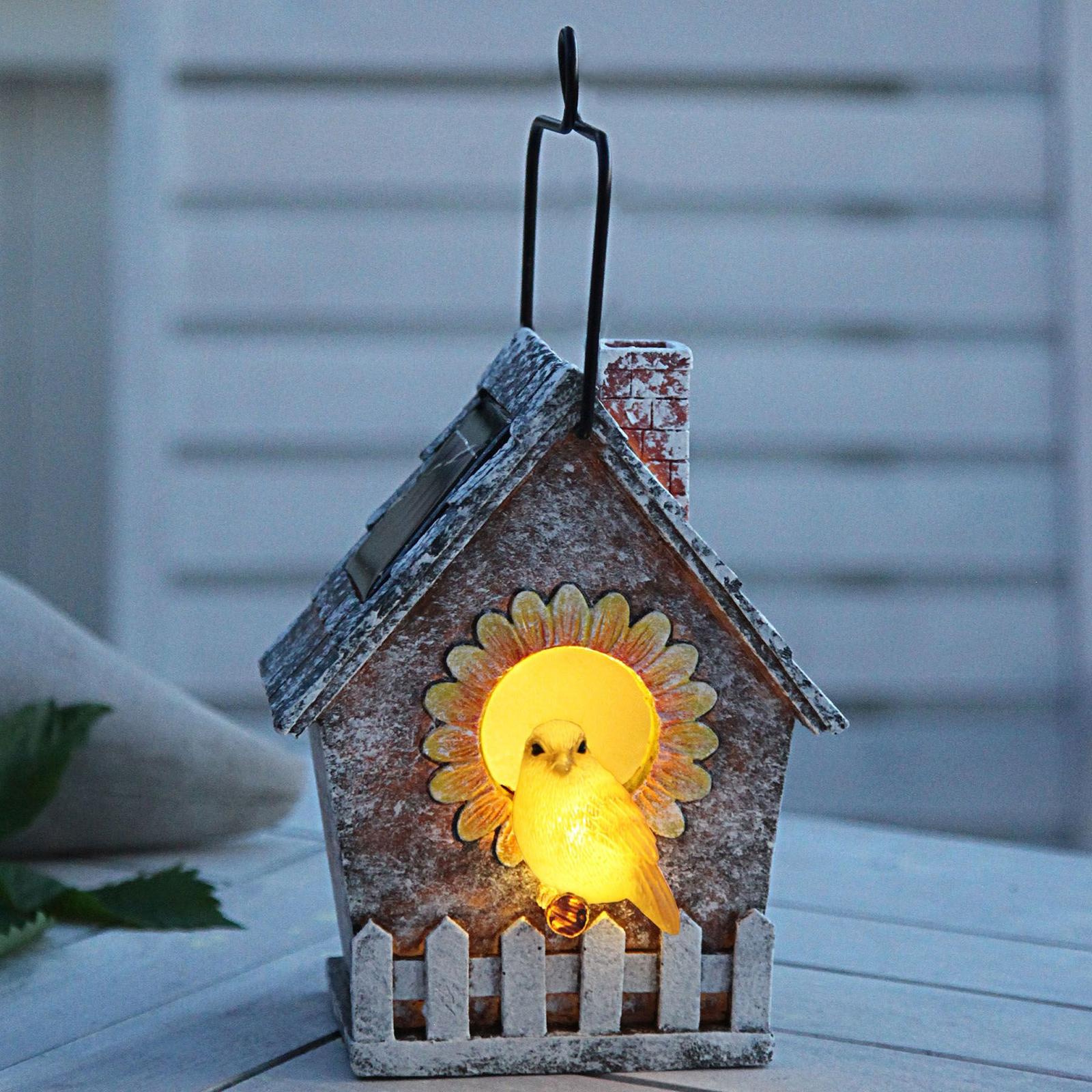 Solcelle-LED-lampe Vogelhaus