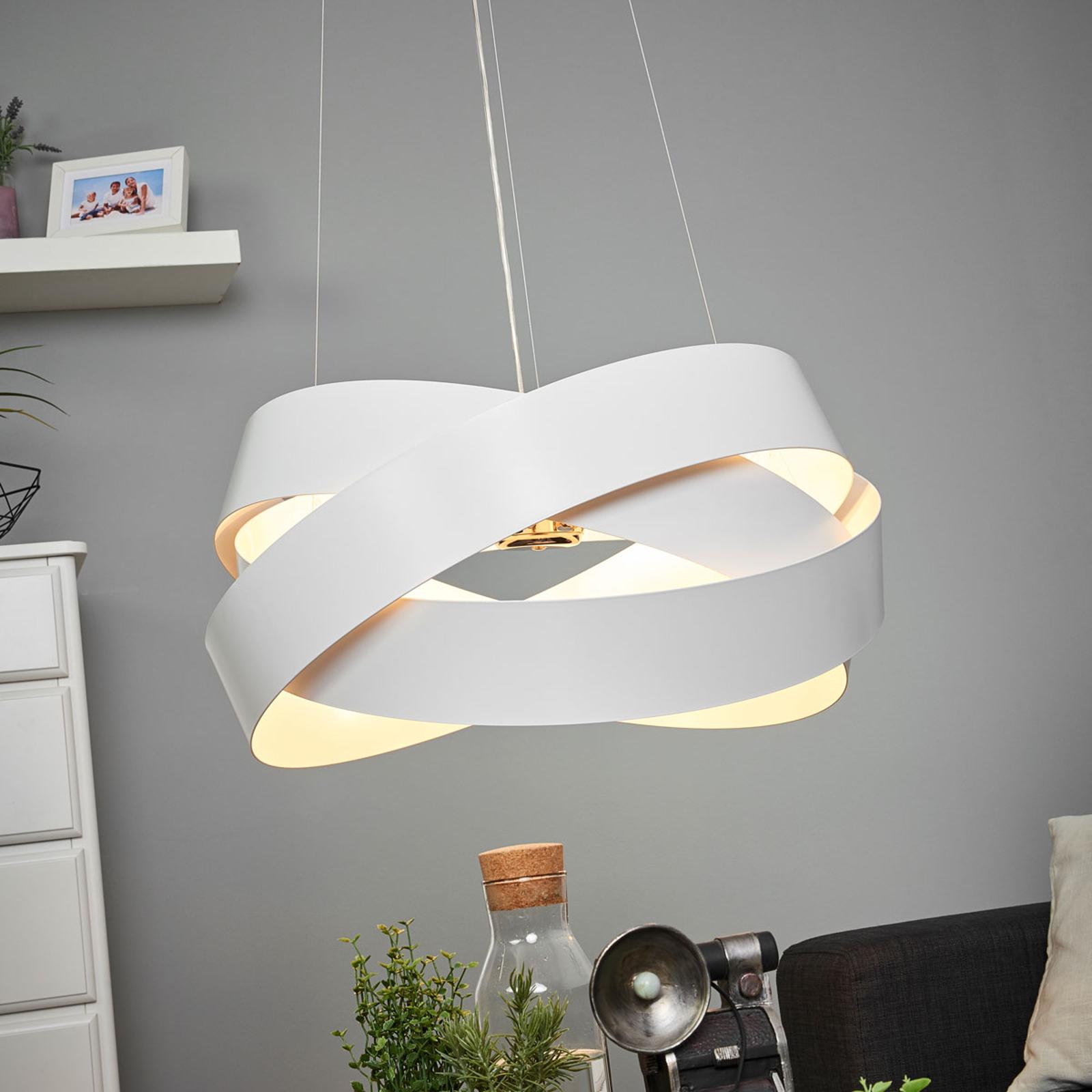 Lampa wisząca Pura w kolorze białym, 60cm, 8x G9