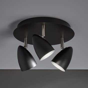 Loftlampe Ciro med justerbare spot, sort