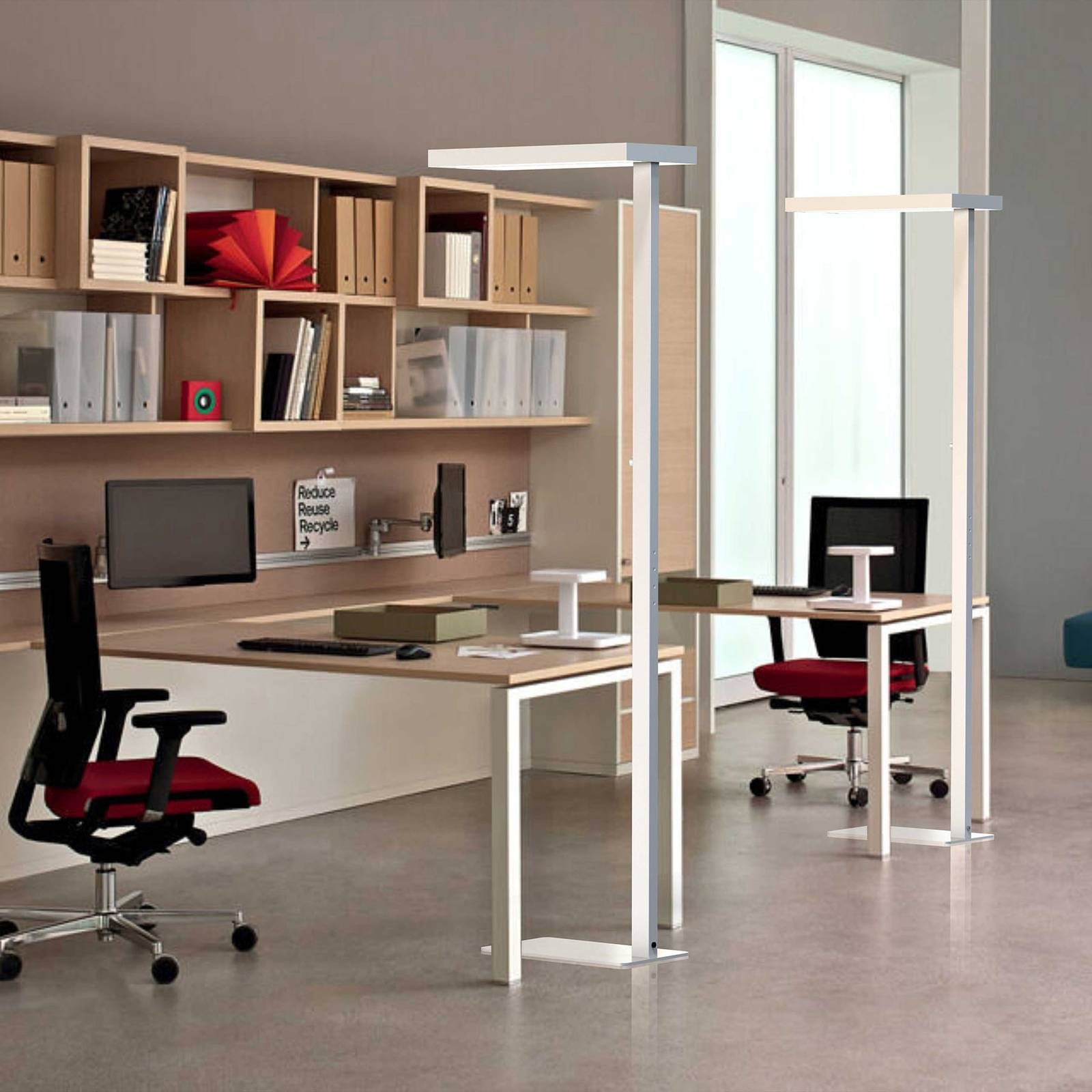 Lampadaire LED Office up/down 4000K dimmable arg