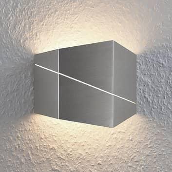 Lámpara de pared LED Nikolae, 18 cm, níquel mate