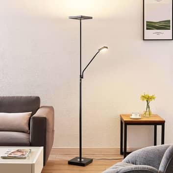 Lindby Sumani LED-golvlampa, kantig, svart