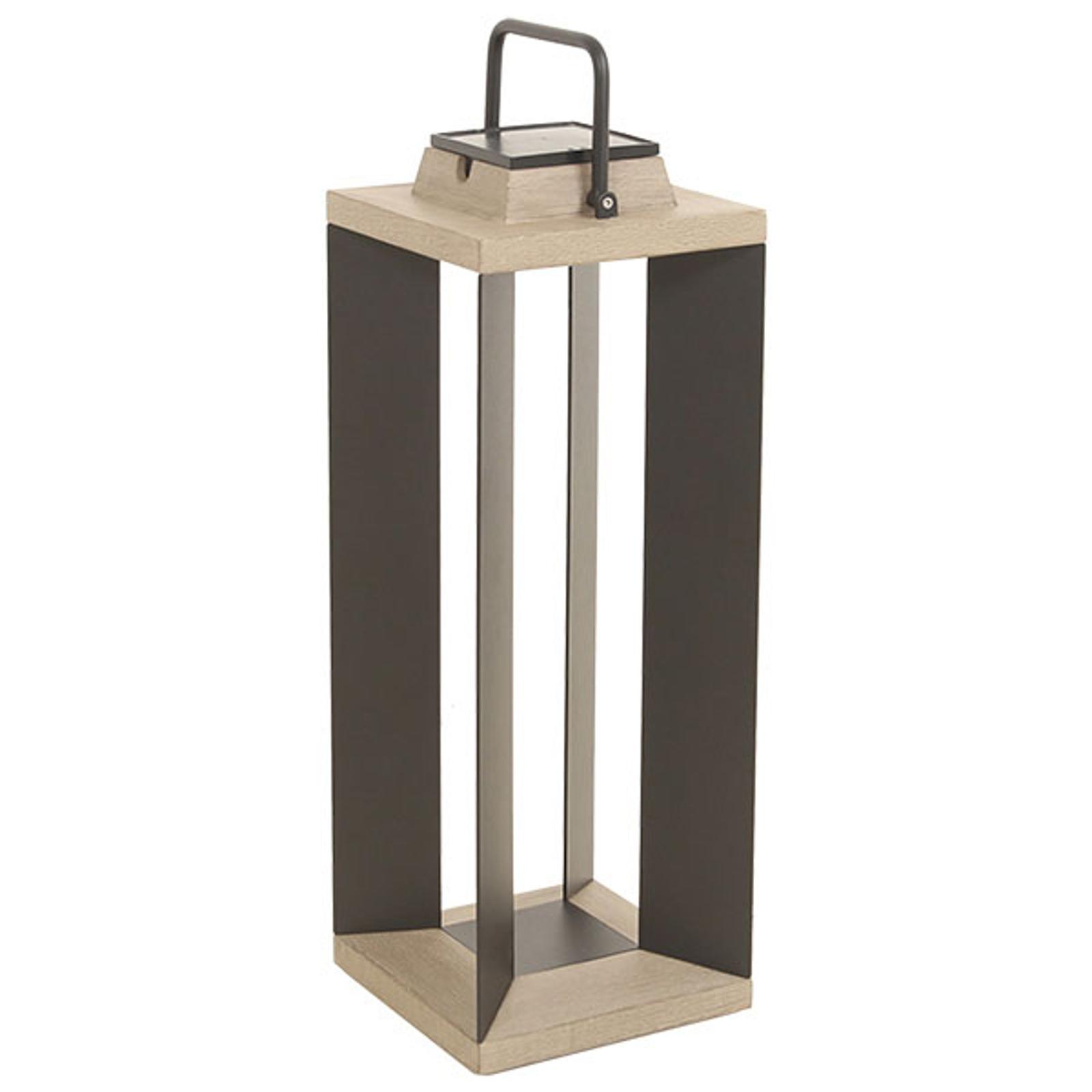 Lanterna solare Teckalu, duratek/nero, 65,5cm