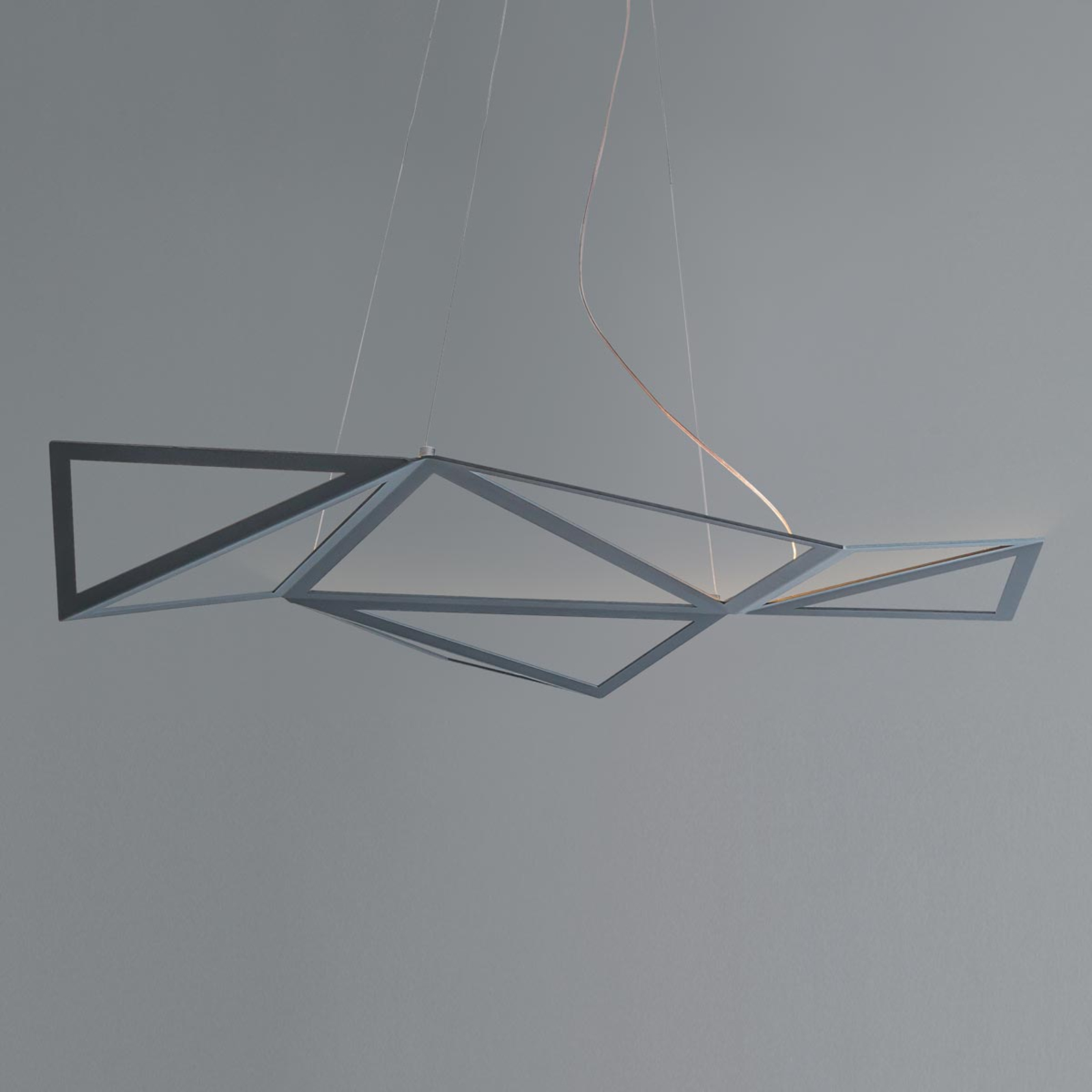 Suspension LED Starlight en gris