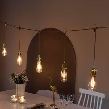 Birne LED-party-lyslenke innendørs, 8 lyskilder