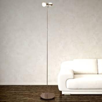 Fleksibel stålampe PUK FLOOR høyde 180 cm