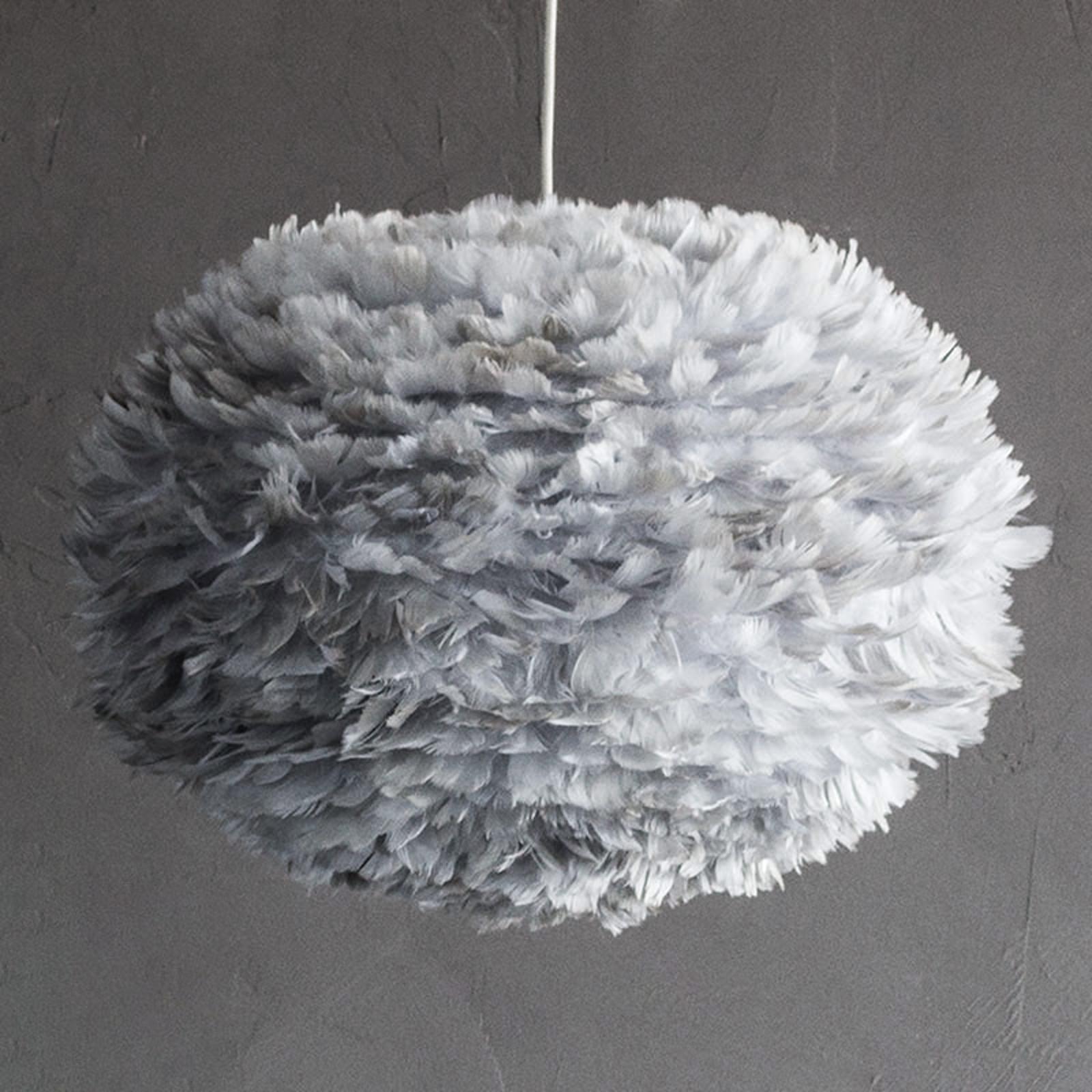 Eos – stor pendellampa med ljusgrå skärm
