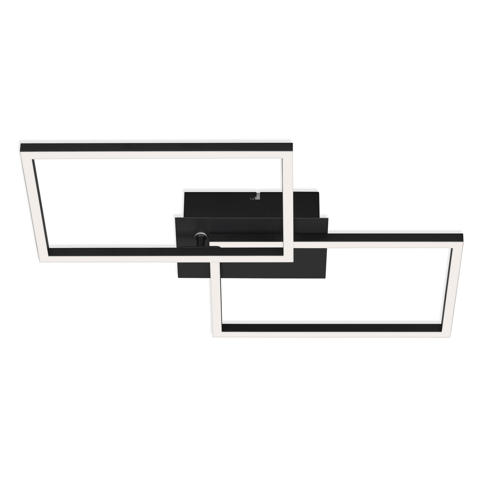 LED plafondlamp Frame CCT, zwart, 50x39cm