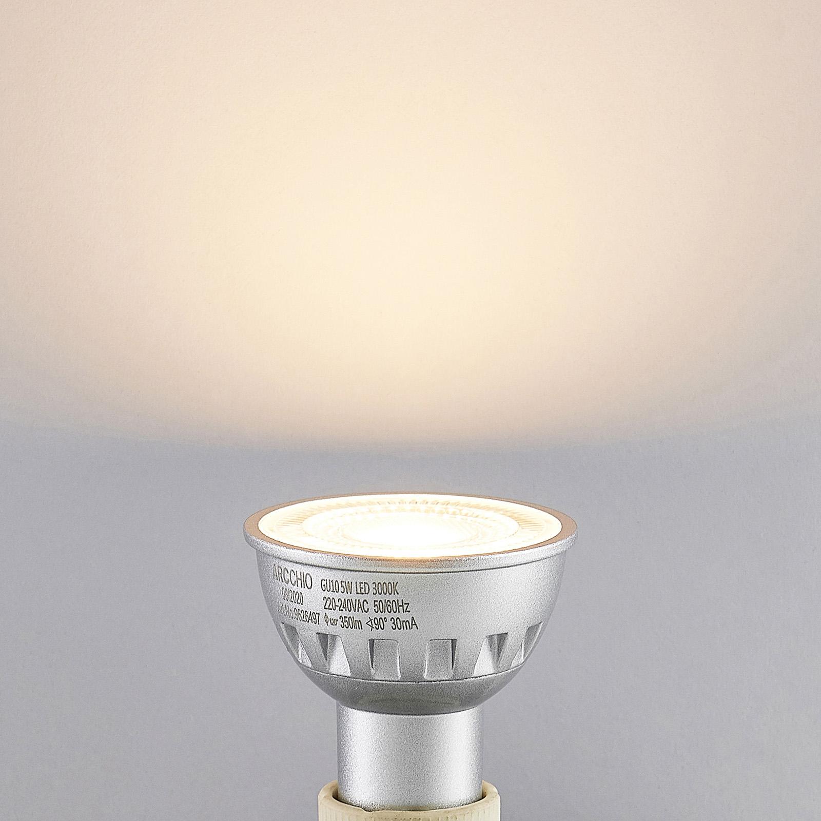 Arcchio LED-reflektor GU10 5W 90° 3000K dimbar