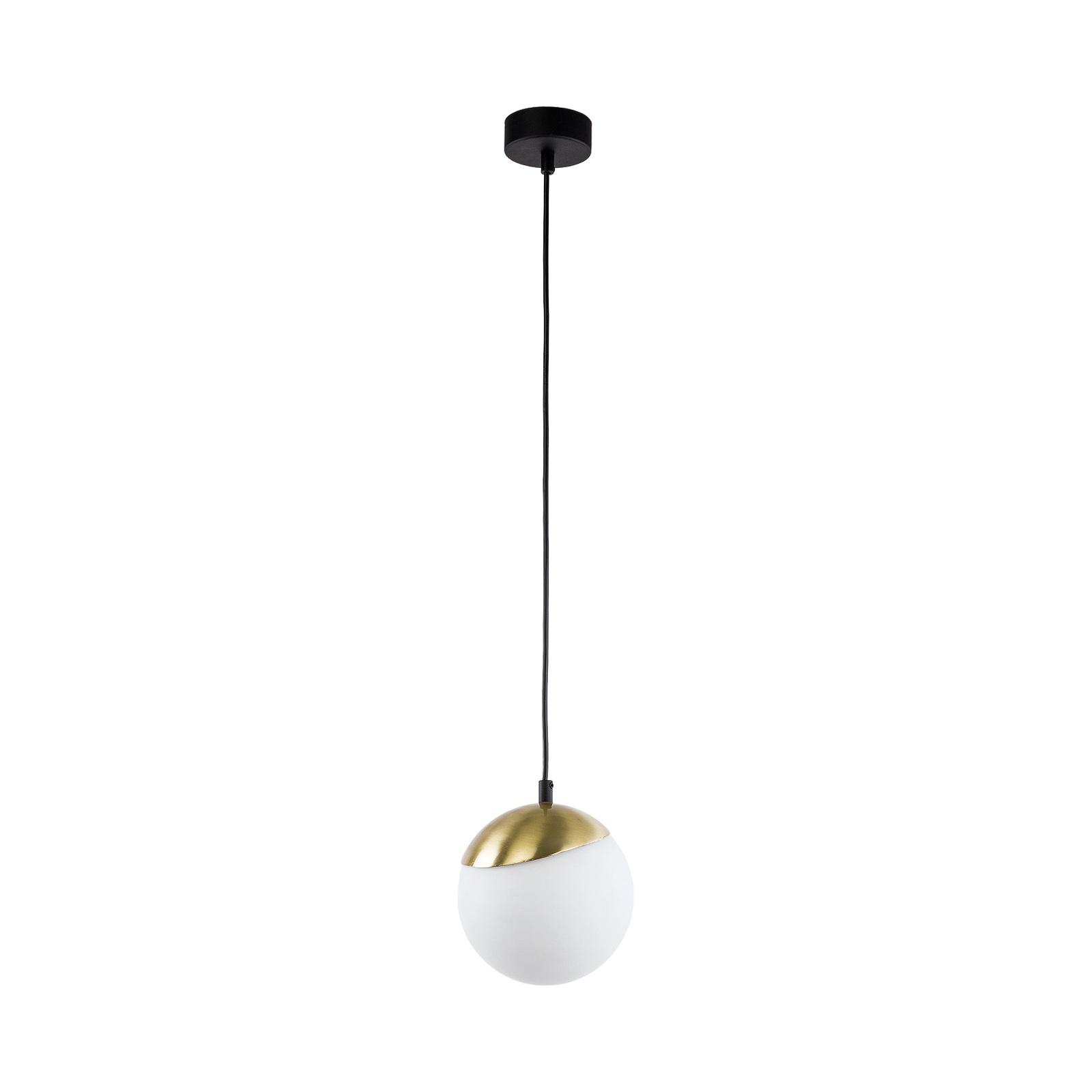 Suspension Torbole, opale/laiton, à 1 lampe