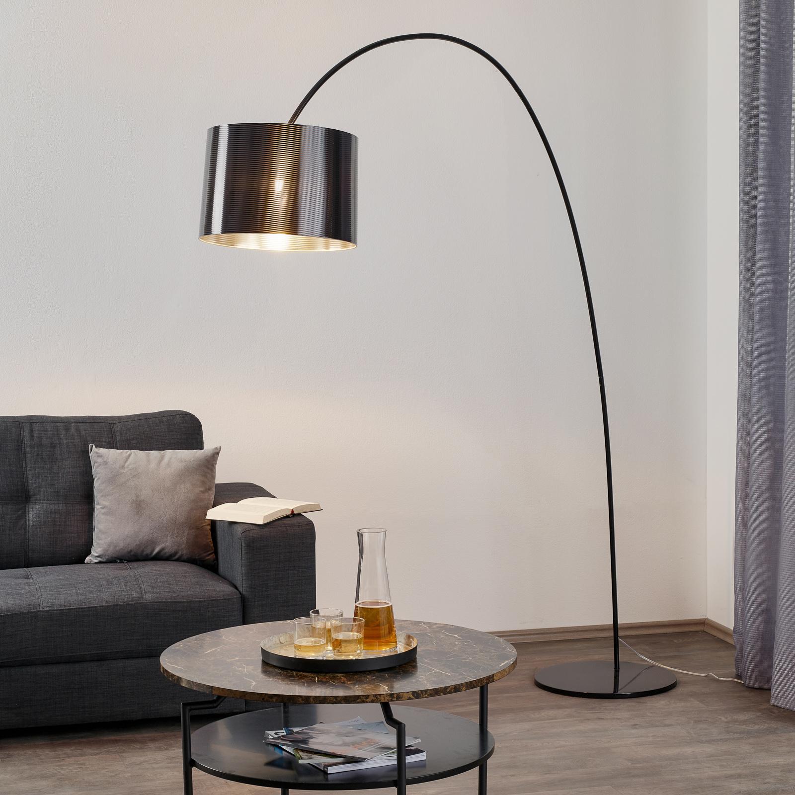 Helestra booglamp Roxx, zwart