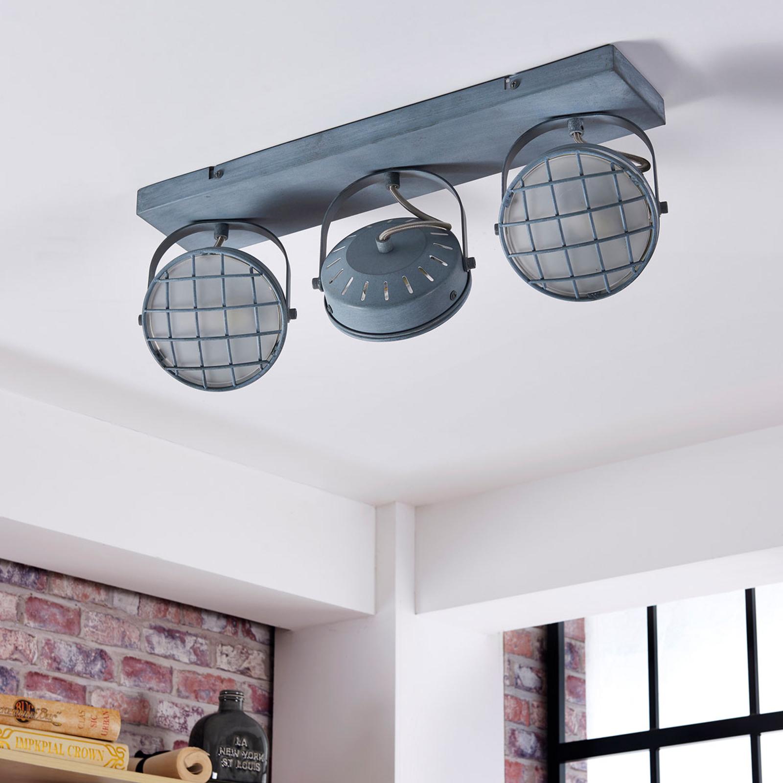 Tamin graue LED Deckenleuchte im Industriestil