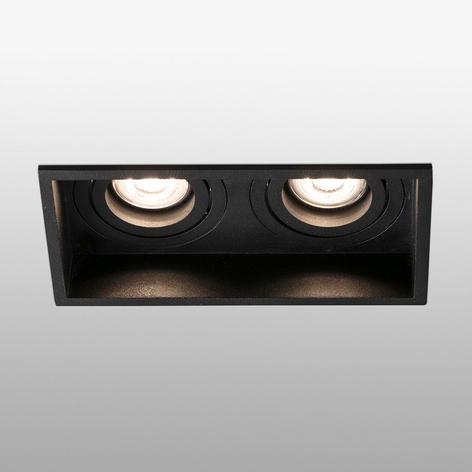 Lámpara empotrada Hyde, 2 luces giratorio