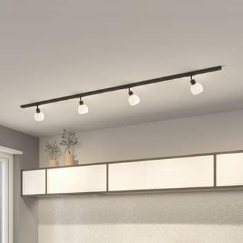 Lindby Jeanit 1-faset LED-skinne, svart