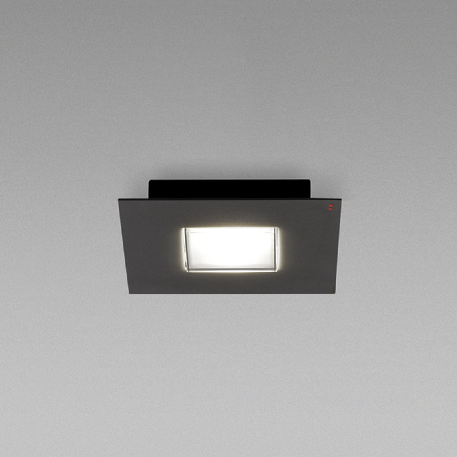 Fabbian Quarter - schwarze LED-Deckenlampe 1flg.