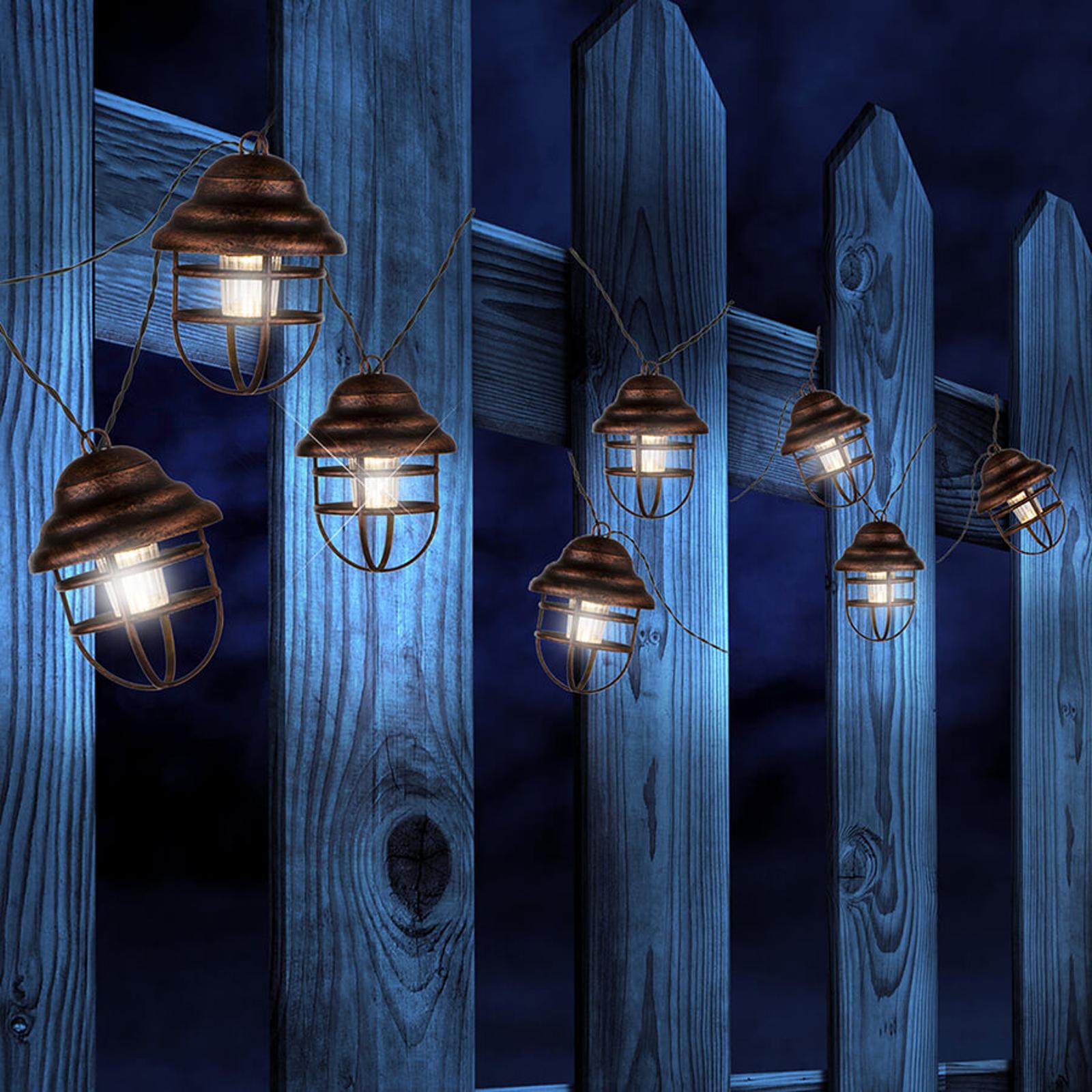 Solarny łańcuch świetlny Lina z 8 latarniami
