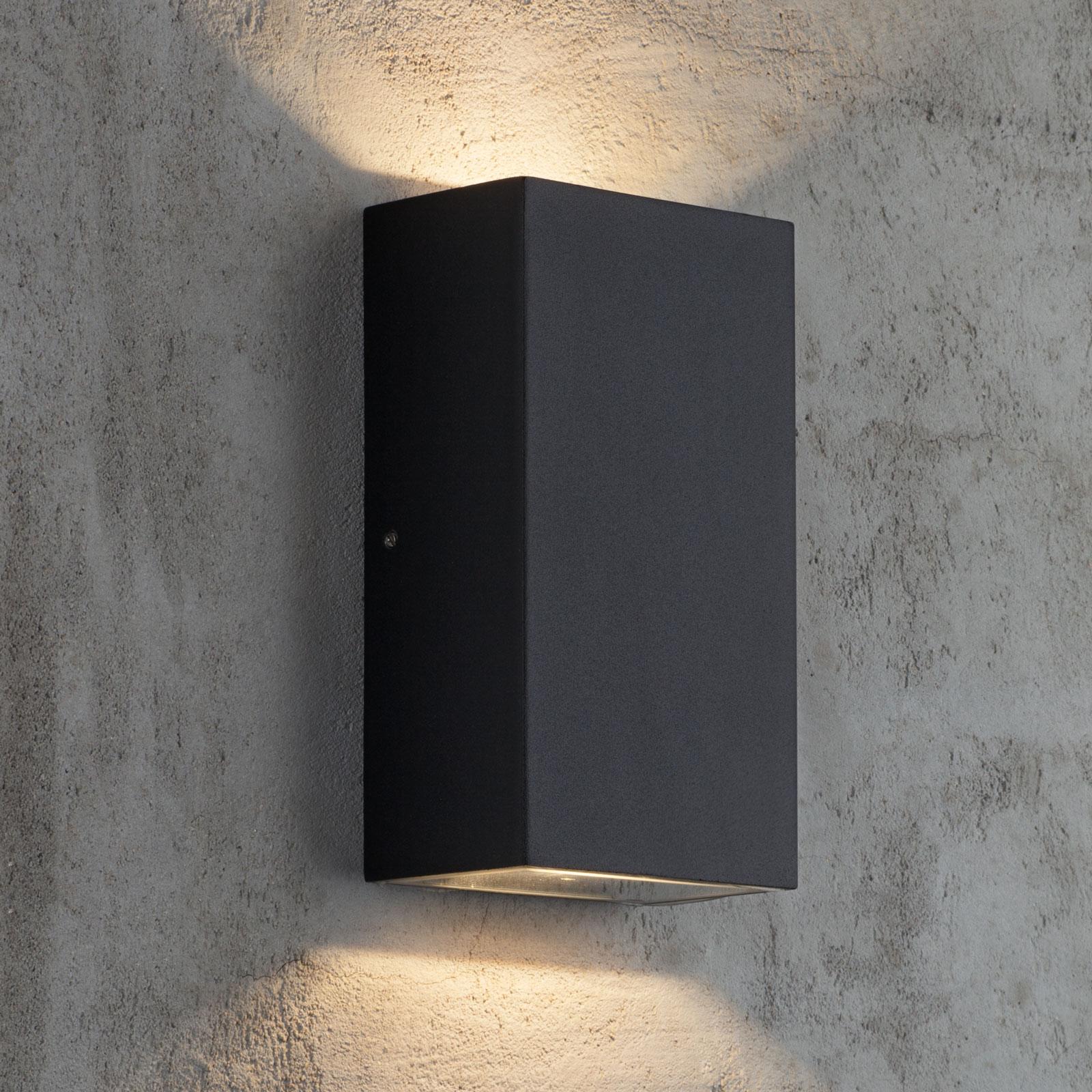 LED buitenwandlamp Rold, hoekige vorm