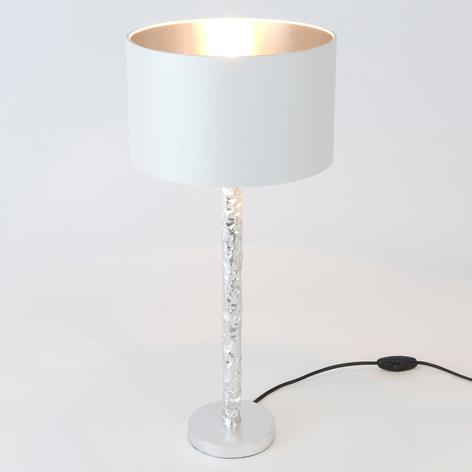 Tischlampe Cancelliere Rotonda weiß/silber 57 cm