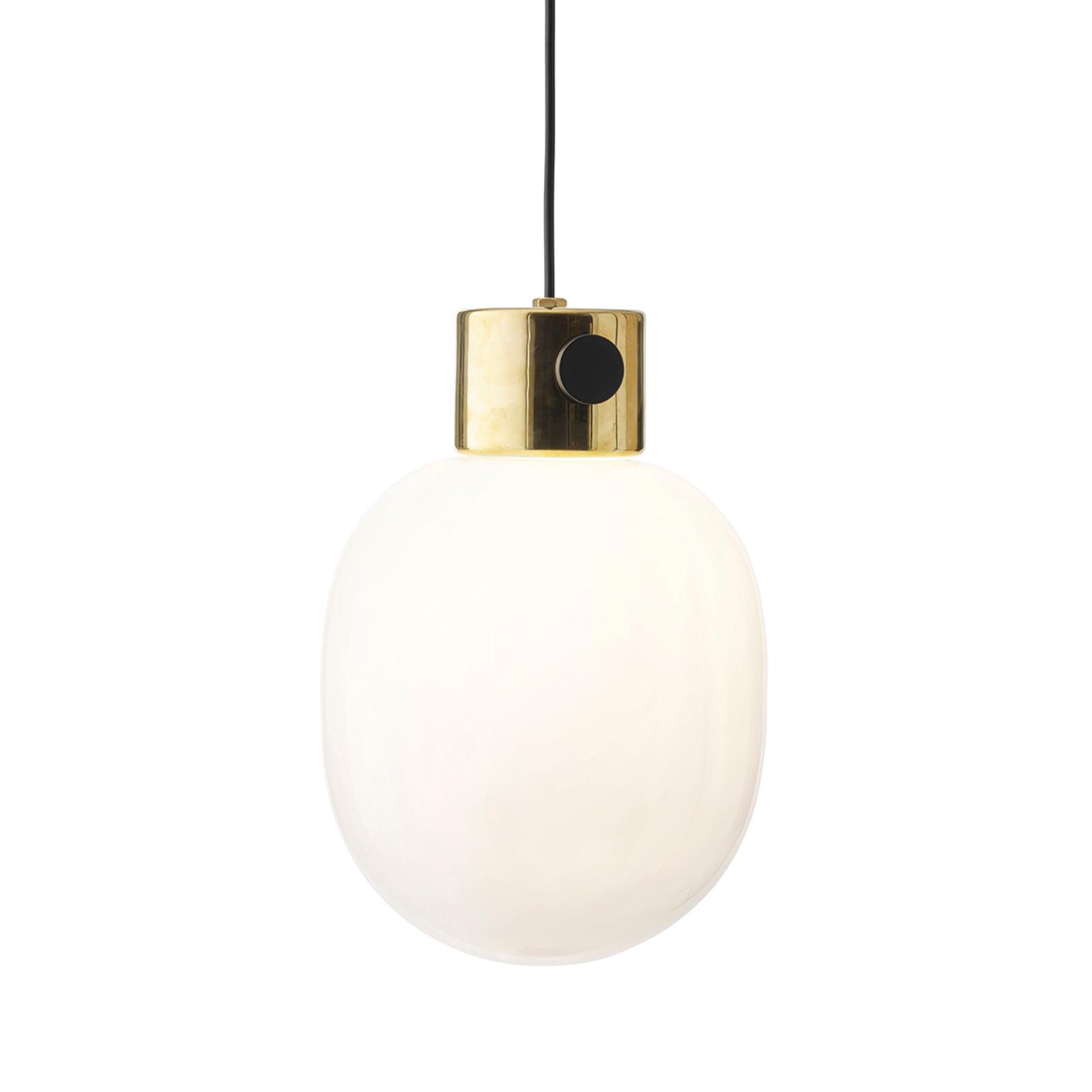 Menu JWDA hanglamp van messing en opaalglas