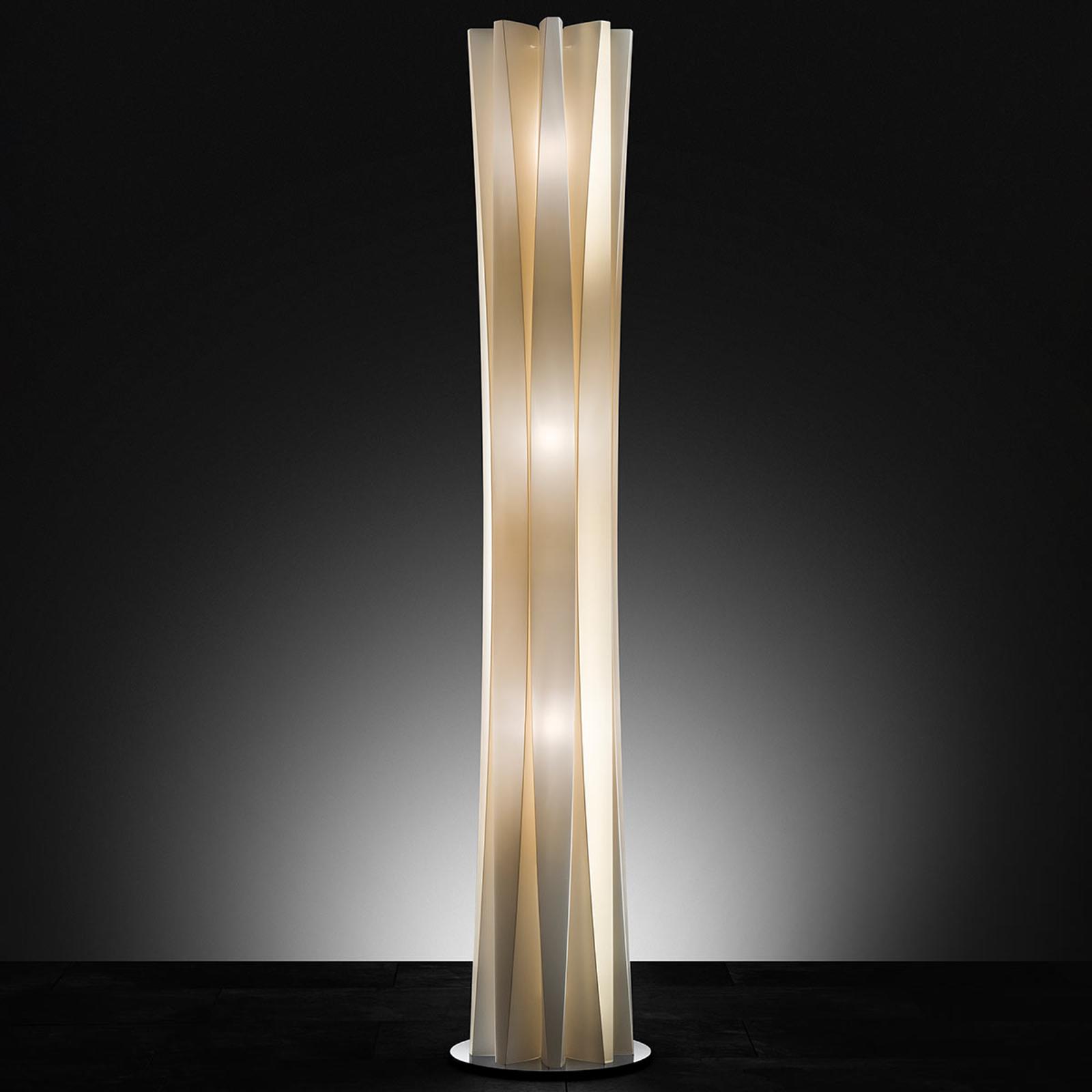 Slamp Bach, vloerlamp, hoogte 161 cm, goud