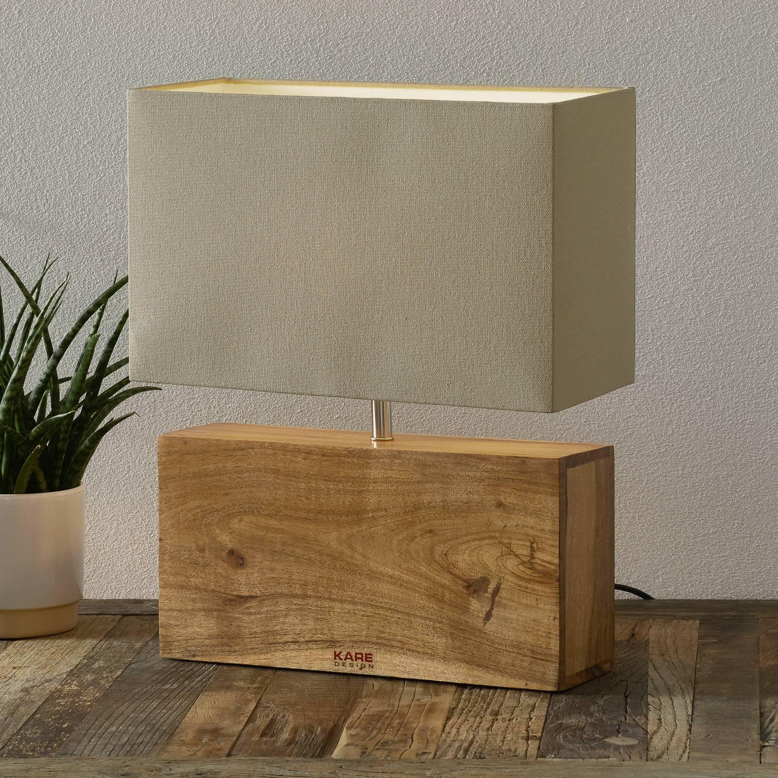 KARE Rectangular Wood - lampe à poser en bois