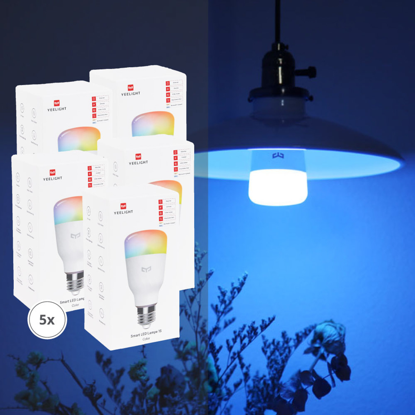 Yeelight Smart ampoule LED color RGBW lot de 5