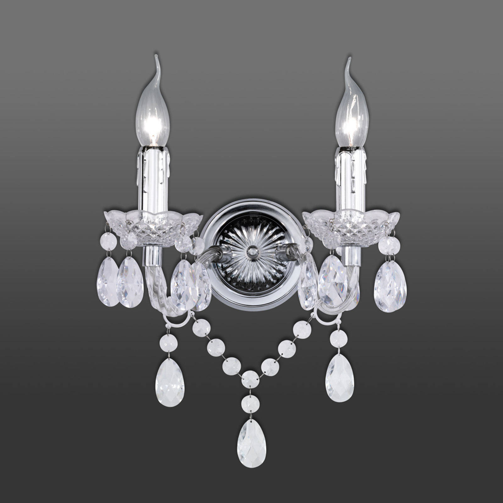 Luxueus ogende wandlamp Perdita