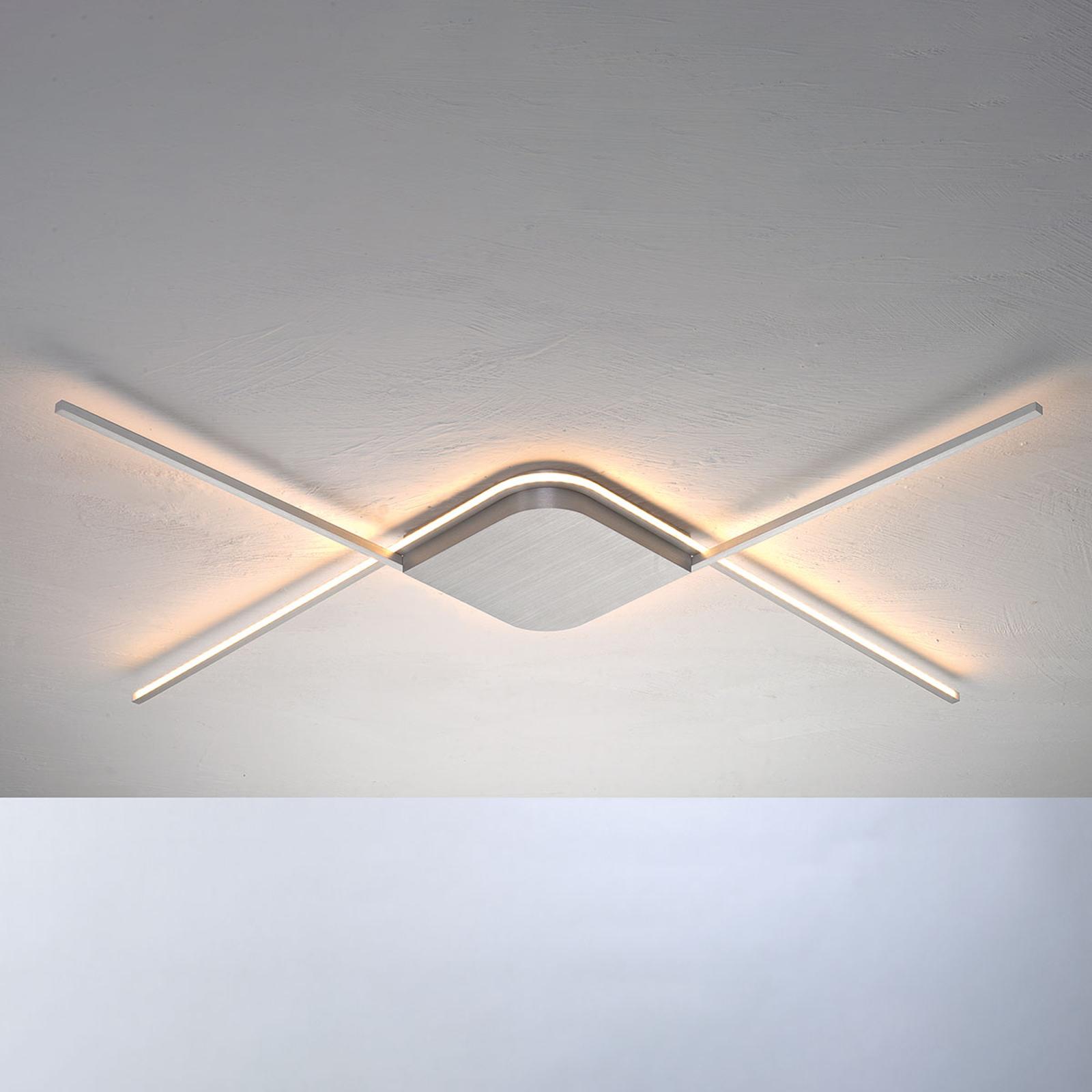 Bopp Less - lampa sufitowa LED, aluminium