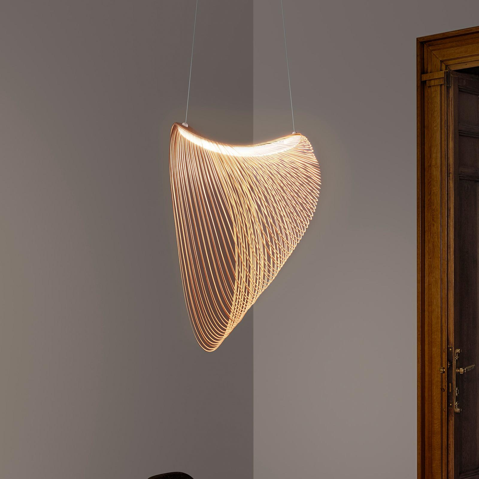 Luceplan Illan LED-Holzhängelampe dimmbar Ø 60 cm