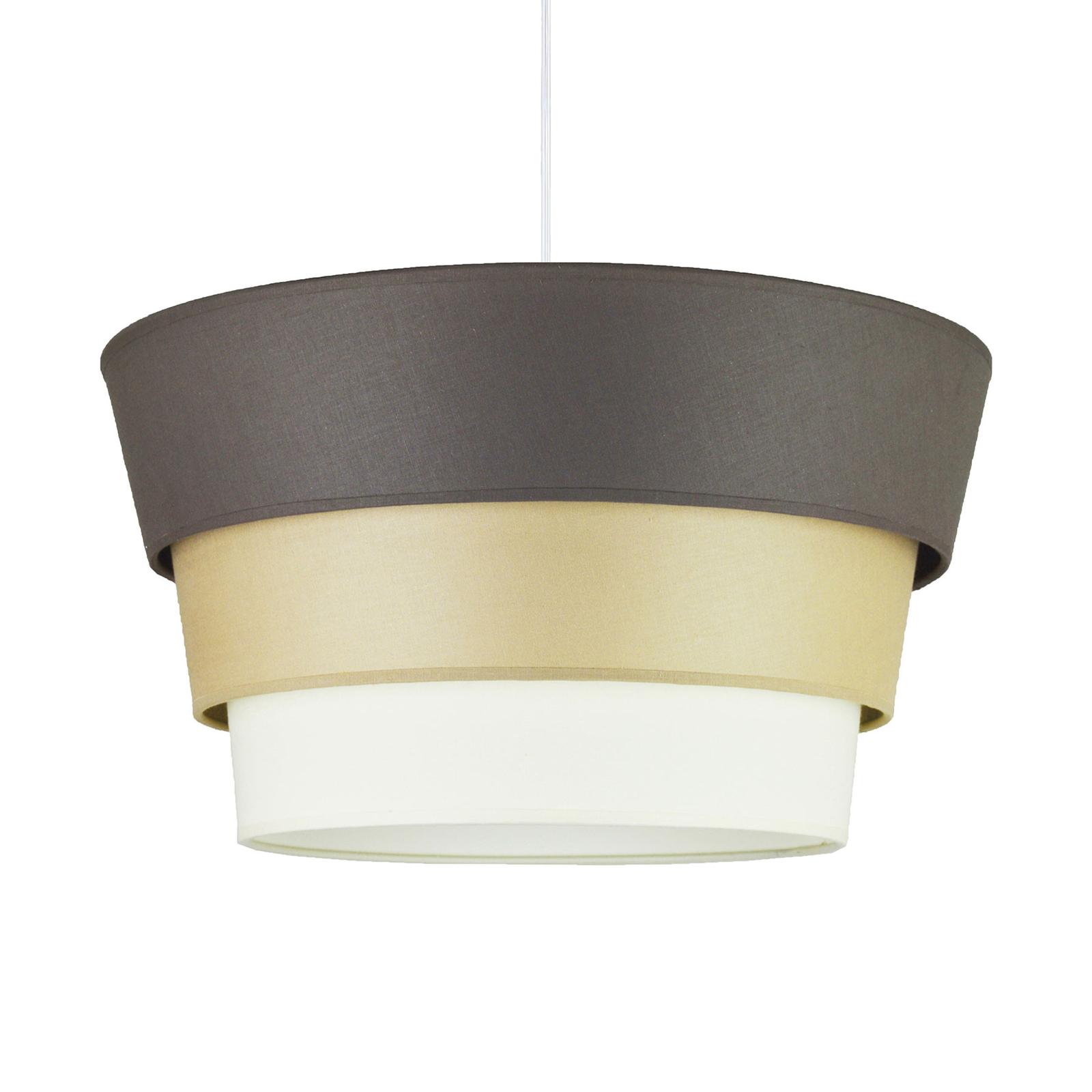 Hanglamp Piramida, antraciet/cappuccino/wit