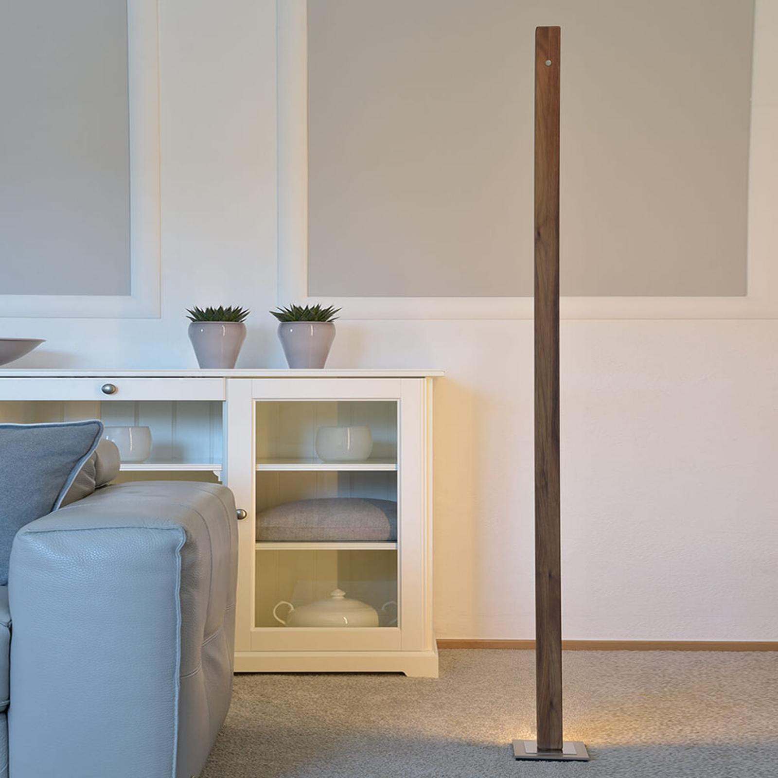 HerzBlut Leonora lampadaire LED 161cm noyer