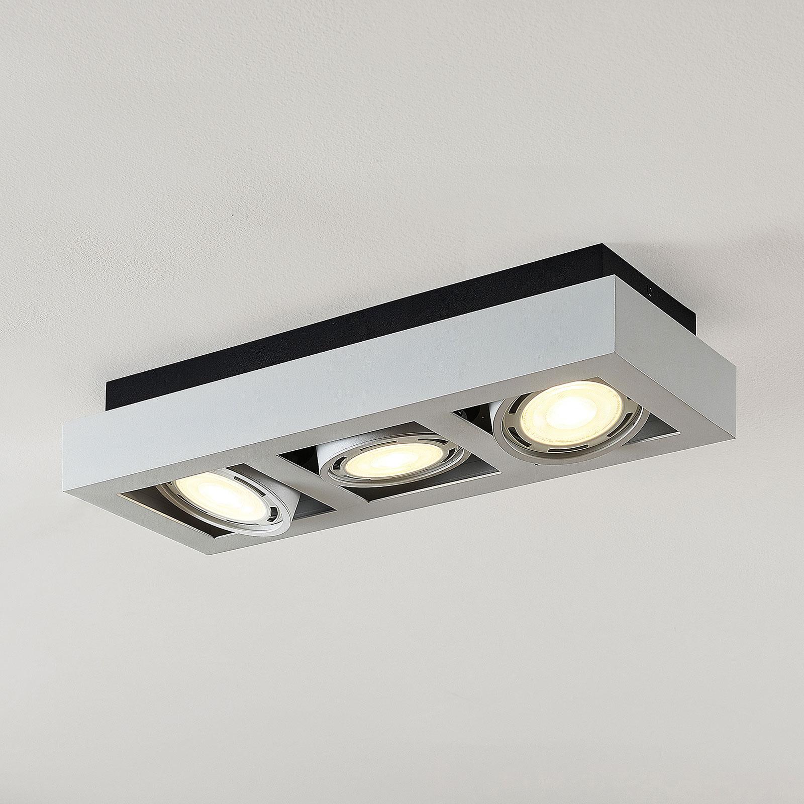 LED-Deckenstrahler Ronka, GU10, 3-fl., weiß